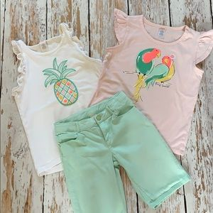 Gymboree Lot of Tops & Shorts Size 10/12